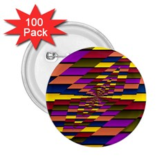 Autumn Check 2 25  Buttons (100 Pack)