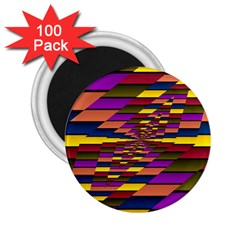 Autumn Check 2 25  Magnets (100 Pack)