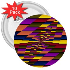 Autumn Check 3  Buttons (10 Pack)