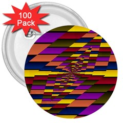 Autumn Check 3  Buttons (100 Pack)
