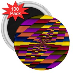 Autumn Check 3  Magnets (100 Pack)