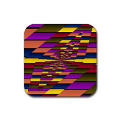 Autumn Check Rubber Coaster (square)