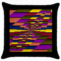 Autumn Check Throw Pillow Case (black) by designworld65
