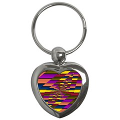 Autumn Check Key Chains (heart)
