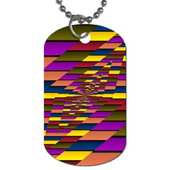 Autumn Check Dog Tag (one Side) by designworld65