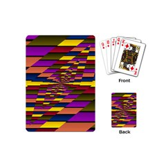Autumn Check Playing Cards (mini)  by designworld65