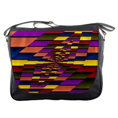 Autumn Check Messenger Bags by designworld65