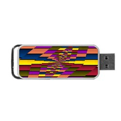 Autumn Check Portable Usb Flash (two Sides)