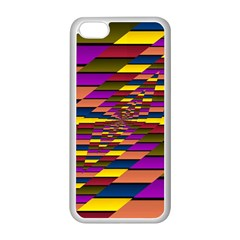 Autumn Check Apple Iphone 5c Seamless Case (white) by designworld65