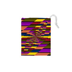 Autumn Check Drawstring Pouches (xs)  by designworld65