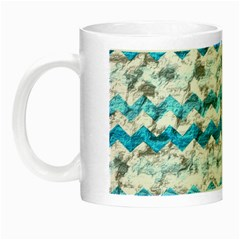 Baby Blue Chevron Grunge Night Luminous Mugs