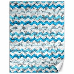 Baby Blue Chevron Grunge Canvas 18  X 24   by designworld65