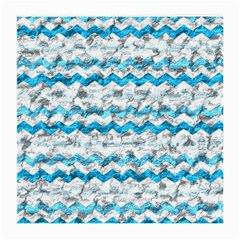 Baby Blue Chevron Grunge Medium Glasses Cloth (2 Side) by designworld65