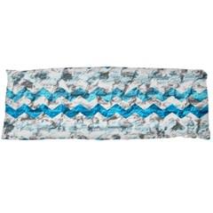 Baby Blue Chevron Grunge Body Pillow Case Dakimakura (two Sides)