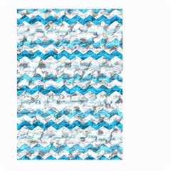 Baby Blue Chevron Grunge Large Garden Flag (two Sides) by designworld65