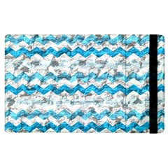 Baby Blue Chevron Grunge Apple Ipad 3/4 Flip Case