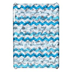 Baby Blue Chevron Grunge Apple Ipad Mini Hardshell Case