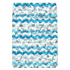 Baby Blue Chevron Grunge Flap Covers (s)