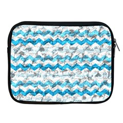 Baby Blue Chevron Grunge Apple Ipad 2/3/4 Zipper Cases