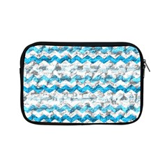 Baby Blue Chevron Grunge Apple Ipad Mini Zipper Cases by designworld65