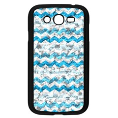 Baby Blue Chevron Grunge Samsung Galaxy Grand Duos I9082 Case (black) by designworld65