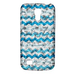 Baby Blue Chevron Grunge Galaxy S4 Mini