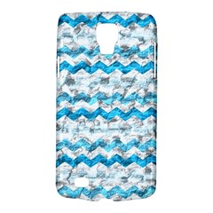 Baby Blue Chevron Grunge Galaxy S4 Active
