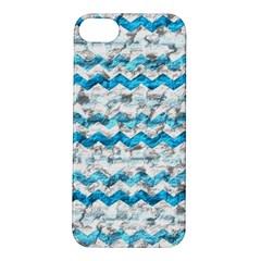 Baby Blue Chevron Grunge Apple Iphone 5s/ Se Hardshell Case