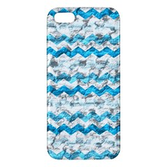 Baby Blue Chevron Grunge Iphone 5s/ Se Premium Hardshell Case