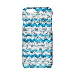 Baby Blue Chevron Grunge Apple Iphone 6/6s Hardshell Case by designworld65