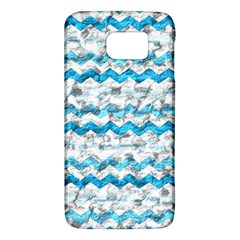 Baby Blue Chevron Grunge Galaxy S6