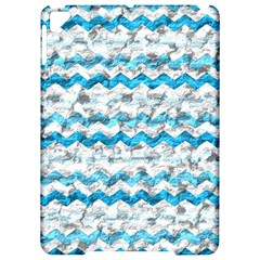 Baby Blue Chevron Grunge Apple Ipad Pro 9 7   Hardshell Case