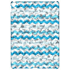 Baby Blue Chevron Grunge Apple Ipad Pro 12 9   Hardshell Case