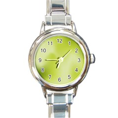 Green Soft Springtime Gradient Round Italian Charm Watch