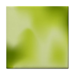 Green Soft Springtime Gradient Tile Coasters