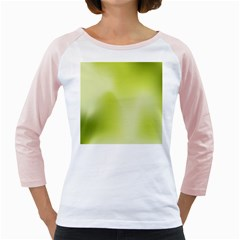 Green Soft Springtime Gradient Girly Raglans