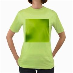 Green Soft Springtime Gradient Women s Green T Shirt