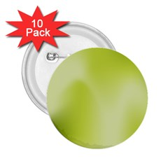 Green Soft Springtime Gradient 2 25  Buttons (10 Pack)