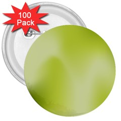 Green Soft Springtime Gradient 3  Buttons (100 Pack)