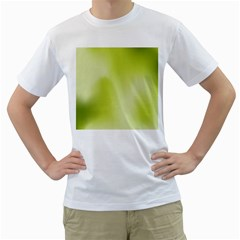 Green Soft Springtime Gradient Men s T Shirt (white) (two Sided)