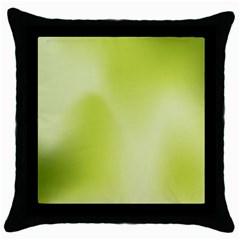 Green Soft Springtime Gradient Throw Pillow Case (black)