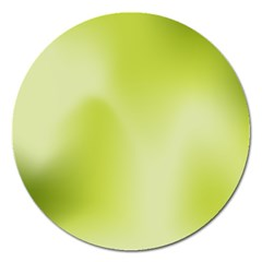 Green Soft Springtime Gradient Magnet 5  (round)