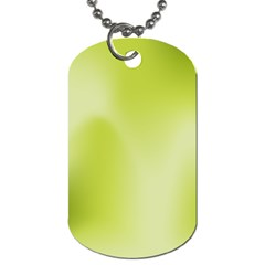 Green Soft Springtime Gradient Dog Tag (one Side)