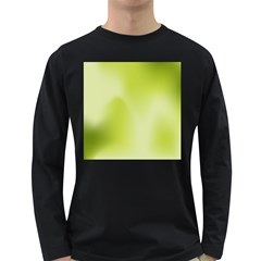 Green Soft Springtime Gradient Long Sleeve Dark T Shirts by designworld65