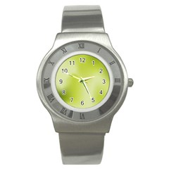 Green Soft Springtime Gradient Stainless Steel Watch