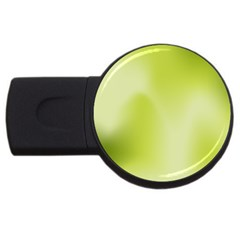 Green Soft Springtime Gradient Usb Flash Drive Round (4 Gb)