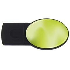 Green Soft Springtime Gradient USB Flash Drive Oval (4 GB)