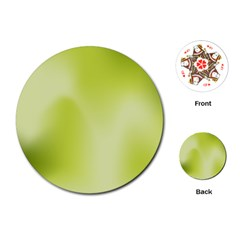 Green Soft Springtime Gradient Playing Cards (Round)
