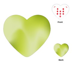 Green Soft Springtime Gradient Playing Cards (heart)