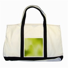 Green Soft Springtime Gradient Two Tone Tote Bag by designworld65